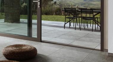 Wire exterior deck tiles - Wire Range - chair, floor, flooring, outdoor structure, patio, property, tile, walkway, wood flooring, gray, black