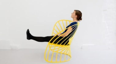 Constance Guisset for Molteni & C: SOL Rocking clothing, joint, outerwear, product design, shoe, shoulder, sportswear, yellow, white