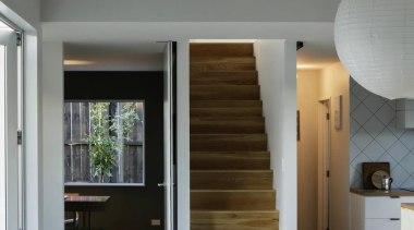 RESIDENTIAL INTERIOR AWARD  The beautiful contrast of architecture, ceiling, daylighting, floor, flooring, hardwood, house, interior design, wood, wood flooring, gray