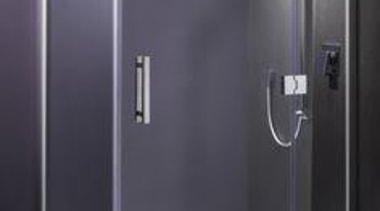 Wall featuring Laminam Collection Uva(Purple) and Naturali Basalto angle, plumbing fixture, shower, shower door, gray, black
