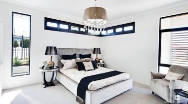 Master ensuite design. - The Element Display Home bed frame, bedroom, ceiling, home, interior design, property, real estate, room, white