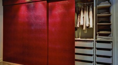 Create instant memories with EcoDomo leathers and belt cabinetry, closet, cupboard, door, floor, furniture, interior design, room, wall, wardrobe, wood stain, red
