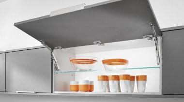 Lift System - AVENTOS HK XS - furniture furniture, kitchen appliance, product, shelf, sink, white, gray