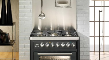A new modern look for the ILVE Majestic gas stove, home appliance, kitchen appliance, kitchen stove, black, white, gray