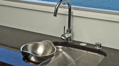 Wellington Kitchen Designer of the Year 2007National Kitchen boat, plumbing fixture, sink, tap, water, watercraft, yacht, gray, black