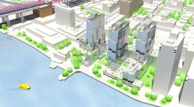 8.jpg - architecture | bird's eye view | architecture, bird's eye view, city, metropolitan area, mixed use, neighbourhood, plan, residential area, suburb, urban design, white, teal