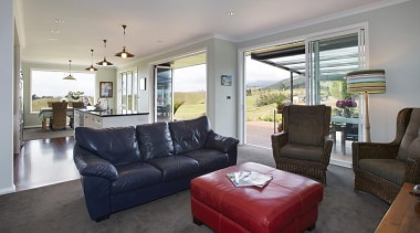 Fowler Homes Tauranga.Gold reserve winner and National finalist ceiling, home, house, interior design, living room, property, real estate, room, window, gray, black