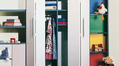 WingLine 26 folding door fitting used in children's bookcase, furniture, shelf, shelving, wardrobe, white