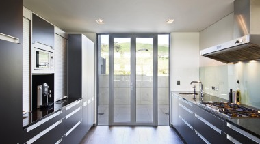 Havelock North Kitchen - Havelock North Kitchen - architecture, cabinetry, countertop, daylighting, floor, home, house, interior design, kitchen, real estate, room, window, gray, white