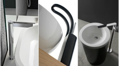 Trenz - bathroom | plumbing fixture | product bathroom, plumbing fixture, product, product design, sink, small appliance, tap, toilet seat, white, black