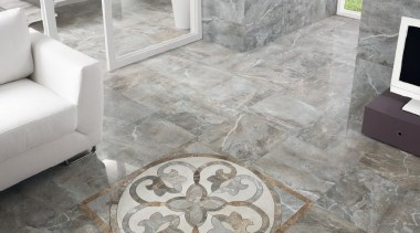 Frost thrill tile la fabbrica lounge floor and flagstone, floor, flooring, living room, tile, gray