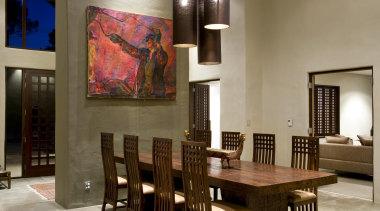 d036770 - ceiling | dining room | floor ceiling, dining room, floor, flooring, furniture, hardwood, interior design, living room, lobby, room, table, wall, wood flooring, brown, gray