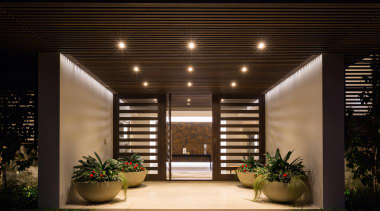 Kohi2 - architecture | ceiling | home | architecture, ceiling, home, house, interior design, lighting, lobby, black, brown