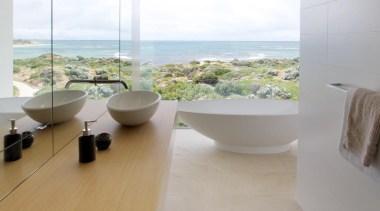 Banham Architects – Finalist - 2015 Trends International bathroom, floor, flooring, interior design, plumbing fixture, product design, property, tap, tile, gray, white