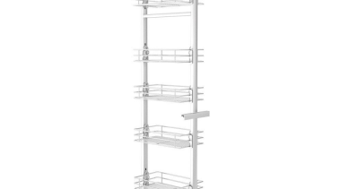 Giamo Tall Pull Out Pantry Unit with Chromed product, product design, shelving, structure, white