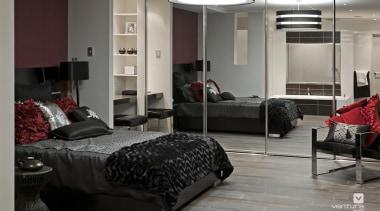 Master Ensuite Design. - The Dynasty Display Home bed frame, bedroom, floor, flooring, furniture, interior design, room, gray, black