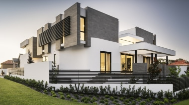 Urbane Projects architecture, building, elevation, estate, facade, home, house, official residence, property, real estate, residential area, villa, gray