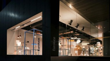 Euroluce has opened a new Melbourne Light Studio architecture, ceiling, interior design, lobby, black