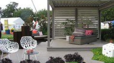 At Ellerslie International Flower Show - At Ellerslie backyard, canopy, garden, outdoor structure, plant, shed, yard, gray, white