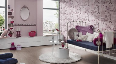 The new Boys and Girls Collection is a floor, flooring, furniture, home, interior design, living room, product, purple, room, table, textile, wall, window, gray