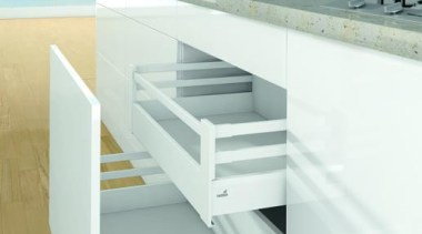 Pot & Pan Drawers - Pot & Pan furniture, handrail, product, product design, shelf, shelving, stairs, white
