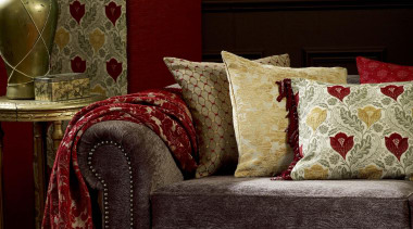 Red House is a distinctive collectionof traditional woven chair, couch, cushion, flooring, furniture, home, interior design, living room, loveseat, room, sofa bed, table, textile, wall, wood, red, brown
