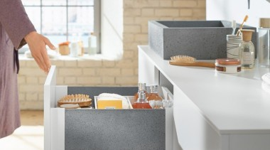 LEGRABOX free - Box System - countertop | countertop, furniture, kitchen, product design, sink, table, tap, white, gray