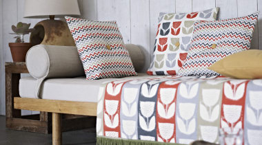 A beautiful collection of drapery prints - Accent bed, bed sheet, bedding, chair, couch, cushion, duvet cover, furniture, interior design, linens, living room, pillow, product, textile, white