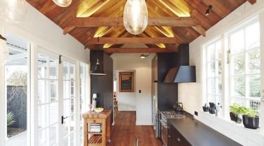 Winner – People's Choice Award - Ingrid Geldof beam, ceiling, countertop, daylighting, home, interior design, kitchen, property, real estate, room, white, brown
