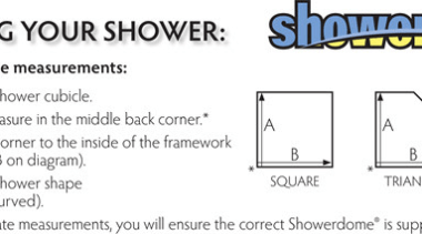 How to measure your shower before installing Showerdome angle, area, black, design, diagram, document, font, line, material, number, paper, paper product, product, product design, text, white, white