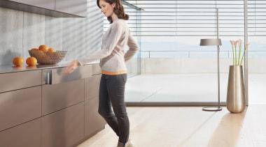 TIP-ON BLUMOTION for LEGRABOX - floor | flooring floor, flooring, furniture, product design, shoulder, standing, table, white