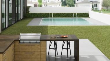 Dekton Cocina Exterior Sirius - Dekton Cocina Exterior architecture, floor, flooring, furniture, house, interior design, patio, product design, table, white, brown