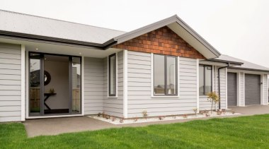 Christchurch showhome - Christchurch showhome - cottage | cottage, elevation, estate, facade, home, house, porch, property, real estate, residential area, siding, window, yard, white