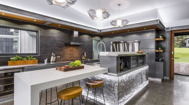 Finalist: TIDA International Kitchen of the YearWinner: HIA countertop, interior design, kitchen, real estate, gray, white