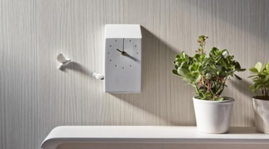 The Modern Day Cuckoo Clock - The Modern flowerpot, furniture, interior design, shelf, tap, wall, gray