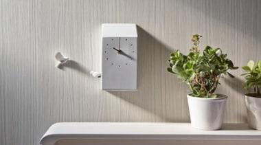 The Modern Day Cuckoo Clock - The Modern flowerpot, furniture, interior design, shelf, tap, wall, gray