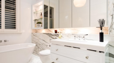 Winner Bathoom of the Year 2013 South Australia bathroom, bathroom accessory, bathroom cabinet, countertop, floor, flooring, home, interior design, room, sink, tile, white
