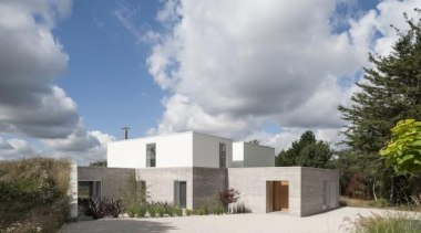 Broombank, Suffolk, United KingdomSOUP Architects - World Architecture architecture, building, cloud, cottage, estate, facade, home, house, land lot, property, real estate, residential area, sky, villa, gray