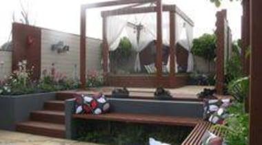 At Ellerslie International Flower Show - At Ellerslie backyard, courtyard, outdoor structure, property, real estate, black, white