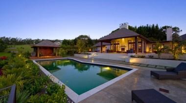 d036608 - backyard | cottage | estate | backyard, cottage, estate, hacienda, home, house, leisure, property, real estate, residential area, resort, swimming pool, villa, blue