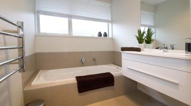 For more information, please visit www.gjgardner.co.nz bathroom, floor, home, interior design, property, room, sink, window, gray
