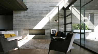 Westmere House - Westmere House - architecture | architecture, floor, house, interior design, living room, loft, table, gray, black