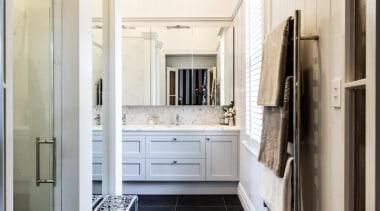 Classic Villa - Classic Villa - bathroom | bathroom, ceiling, floor, flooring, home, interior design, room, tile, wood flooring, white, black