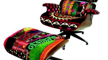 Hoda Baroudi et Maria Hibri interpretation of Eames chair, furniture, product, product design, white