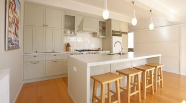 2 pot lacquer, carrara marble, subway tiles - countertop, cuisine classique, floor, flooring, hardwood, interior design, kitchen, property, real estate, room, wood flooring, gray