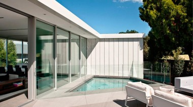 Silver Award recipient for Residential Swimming Pools under architecture, daylighting, estate, home, house, interior design, property, real estate, swimming pool, window, white