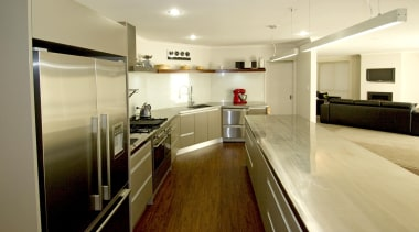 For more information, please visit www.gjgardner.co.nz countertop, floor, flooring, interior design, kitchen, real estate, room, yellow, brown
