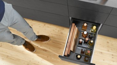 AMBIA-LINE inner dividing system – organization at its floor, flooring, furniture, hardwood, laminate flooring, product design, table, wood, wood flooring, wood stain, orange, black