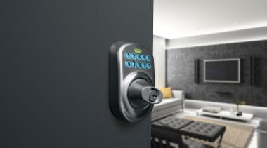 Schlage BE Series Keypad Deadbolt. For Residential Electronic multimedia, product, product design, technology, black