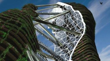 Skyscraper - architecture | building | daytime | architecture, building, daytime, landmark, metropolis, metropolitan area, sky, skyscraper, structure, tourist attraction, tower, tower block, tree, black